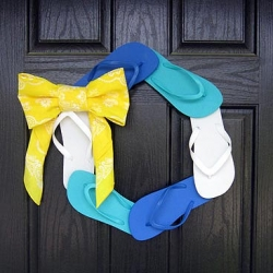 Flip Flop Wreath Tutorial