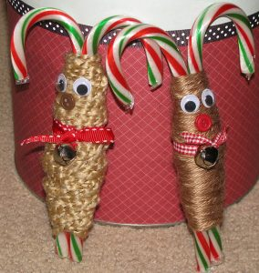 Homemade Candy Cane Reindeers