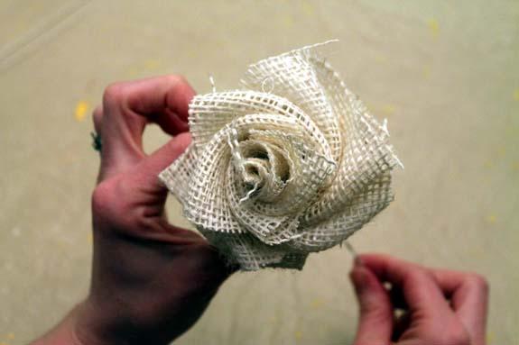 Цветы из льна своими руками мастер класс