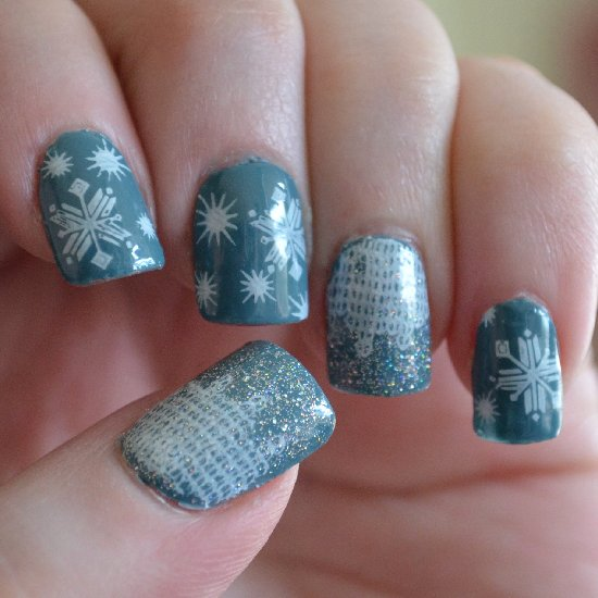 12 stunning snowflake nail art designs with tutorials guide patterns nail snowflakes art prinsesfo Images
