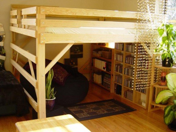 Ikea Double Loft Bed Wooden