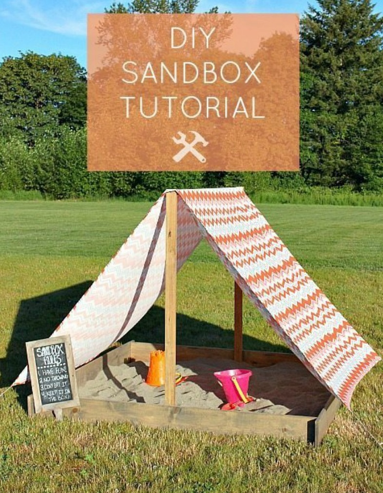 how to build a sandbox 17 diy plans guide patterns. Black Bedroom Furniture Sets. Home Design Ideas