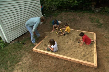 How to build a sandbox 17 diy plans guide patterns for How to build a backyard house