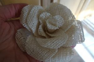 Small Burlap Flower