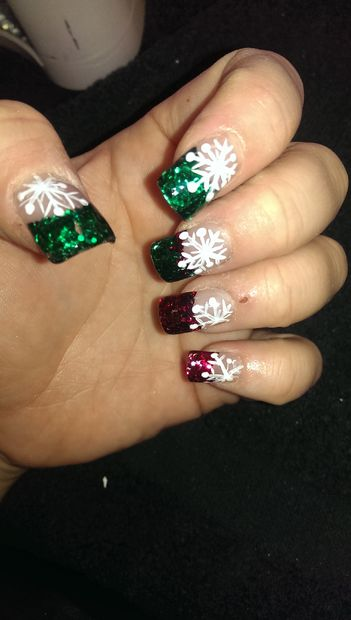 12 stunning snowflake nail art designs with tutorials guide patterns snowflakes nail art design prinsesfo Images