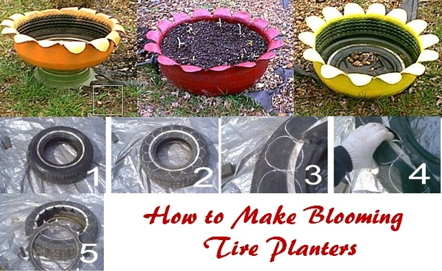 11 Tire Planters With Diy Instructions Guide Patterns