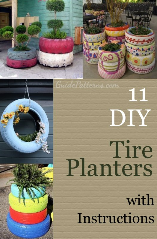 Tire Planters with DIY Instructions