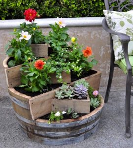 Using Wine Barrel as Planter