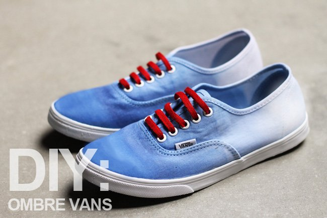 Blue And White Ombre Shoes
