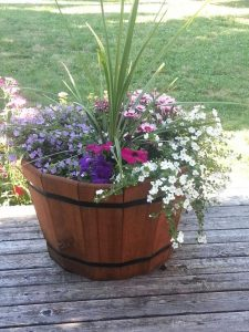 DIY Wine Barrel Planter