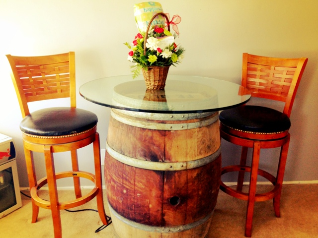 wood barrel furniture. Wine Barrel Table Wood Furniture A