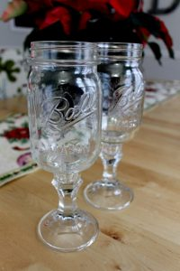 Wine Glass Mason Jars