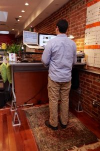 Adjustable Standing Sitting Desk