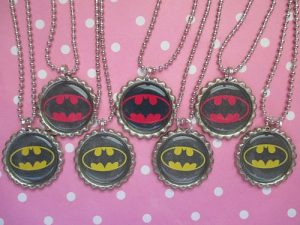 Batman Bottle Cap Necklaces