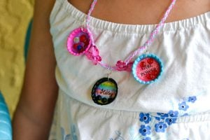 Bottle Cap Necklace Lucky Charm