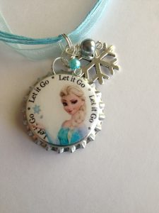 Bottle Cap Necklace Frozen