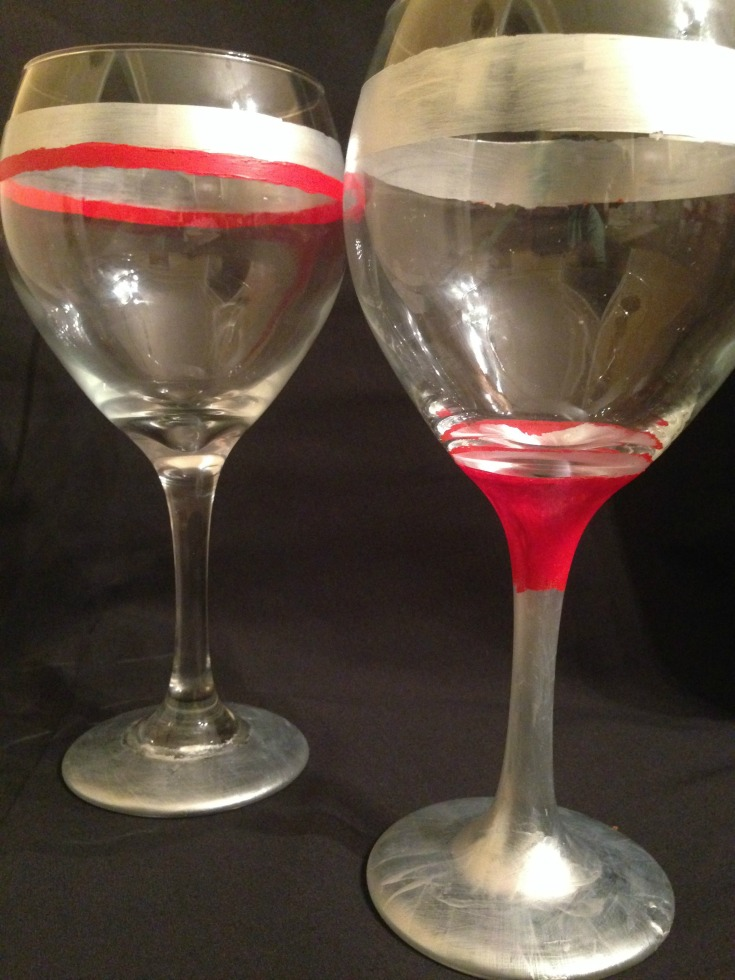 Curing Painted Wine Glasses