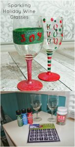 Christmas Painted Wine Glasses