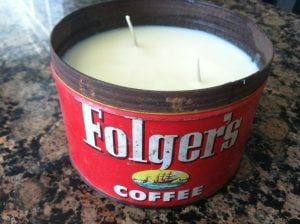 Coffee Can Candle