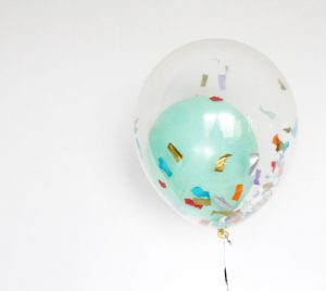 Confetti Balloons Baby Shower