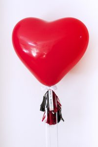 Confetti Heart Balloon