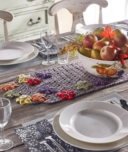 Crochet Autumn Table Runner