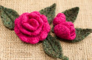 Crochet Christmas Rose Pattern