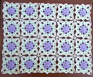 Crochet Flower Table Runner