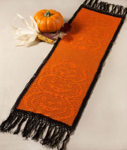 Crochet Halloween Crochet Table Runner