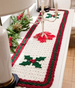 Crochet Holiday Table Runner