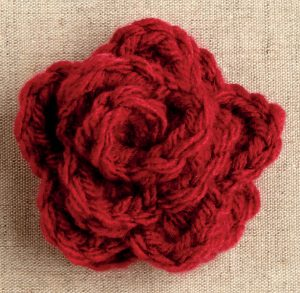 Crochet Large Rose