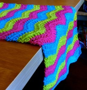 Crochet Ripple Table Runner