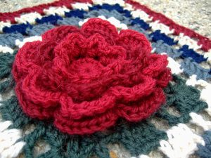 Crochet Rose Afghan Pattern