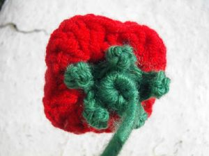 Crochet Rose Calyx