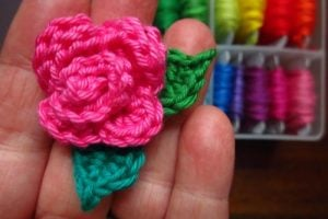 Crochet Rose Mini