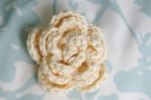 Crochet Rose Pattern No Sew