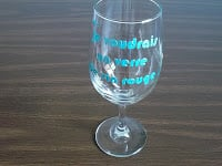 DIY Funny Hand Painted Wine Glass