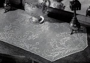 Filet Crochet Table Runner Pattern