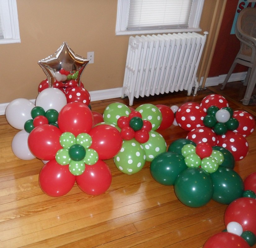 flower balloon decorations - Christmas Balloon Decor