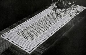 Free Filet Crochet Table Runner Pattern
