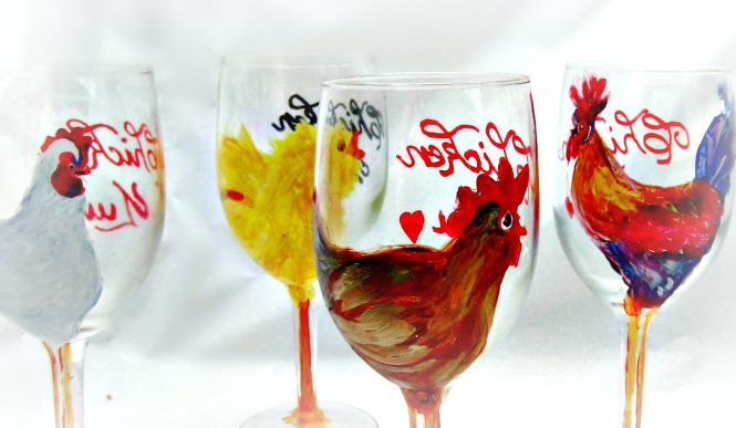 Hand painted wine glasses 51 diy ideas guide patterns - Funky champagne flutes ...
