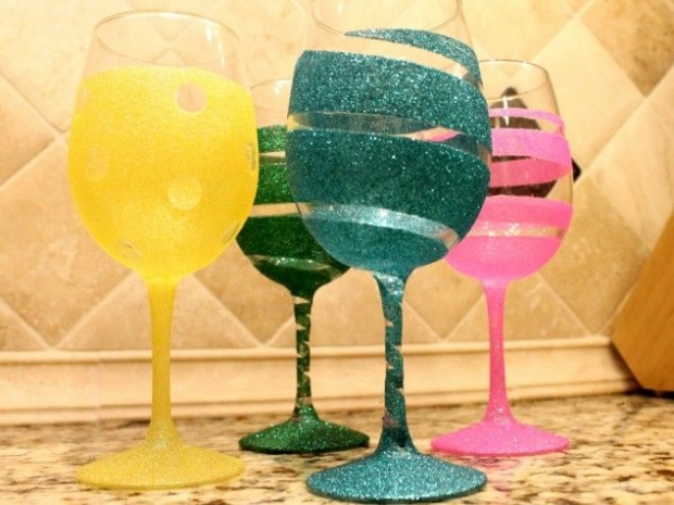 High Quality How To Paint On Wine Glasses