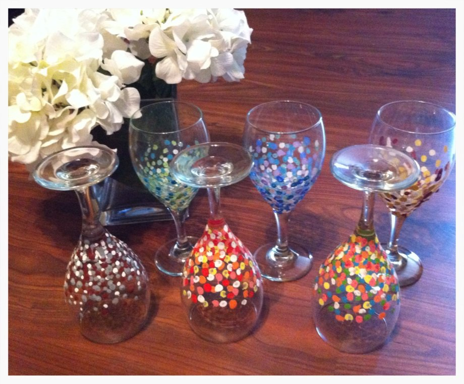 Hand painted wine glasses 51 diy ideas guide patterns for What paint do you use to paint wine glasses