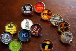 Hunger Games Bottle Cap Necklaces