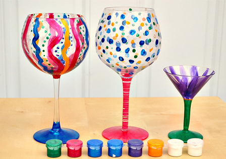 painted wine glasses tutorial - Wine Glass Design Ideas