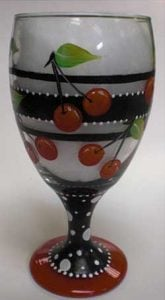 Painted Wine Glasses Bake