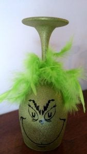 Painted Wine Glasses Grinch