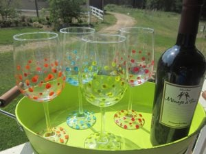 Personalized Painted Wine Glasses