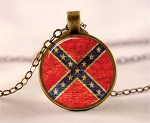 Rebel Flag Bottle Cap Necklace