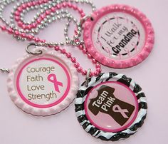 Relay for Life Bottle Cap Necklaces